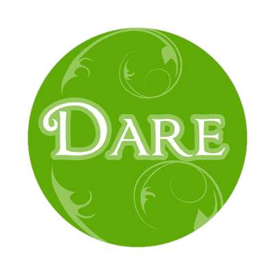 dare one word sticker
