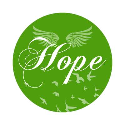 hope one word sticker