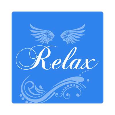 relax one word sticker