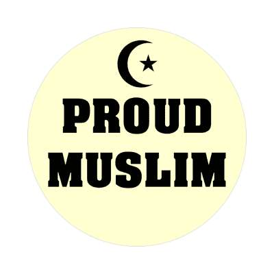 proud muslim crescent symbol islam sticker
