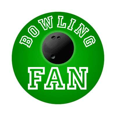 bowling fan sticker sports baseball softball fun recreational activities