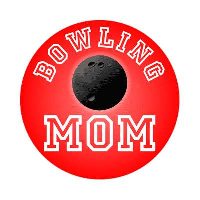 bowling mom sticker sports baseball softball fun recreational activities