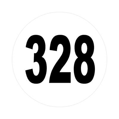 number three hundred twenty eight 328 sticker math plain number