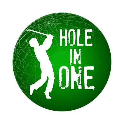 hole in one sticker sports golf birdie hole in one fun recreational activities