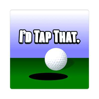 id tap that sticker sports golf birdie hole in one fun recreational activities