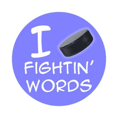 i puck fighting words sticker sports hockey ice goal goalie fights fun recreational activities