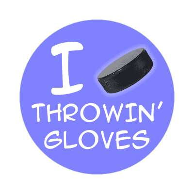 i puck throwing gloves sticker sports hockey ice goal goalie fights fun recreational activities