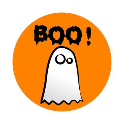 boo ghost sticker halloween holidays funny sayings pumpkin bats witch monster frankenstein vampire dracula scary