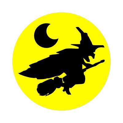 witch moon sticker halloween holidays funny sayings pumpkin bats witch monster frankenstein vampire dracula scary