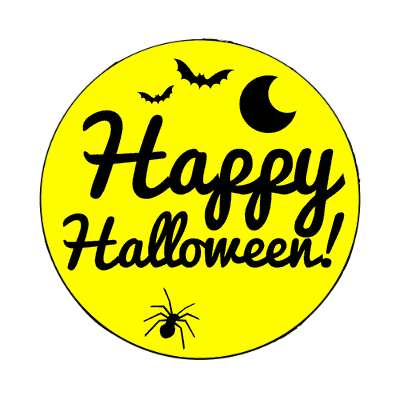 happy halloween bats moon spider magnet halloween holidays funny sayings pumpkin bats witch monster frankenstein vampire dracula scary