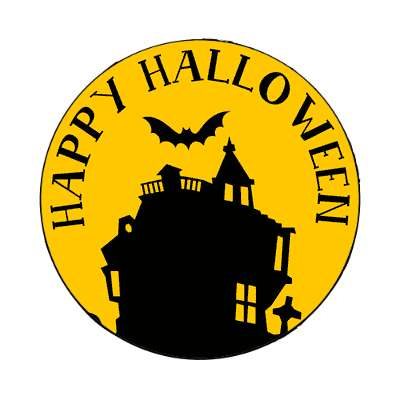 happy halloween house bat magnet halloween holidays funny sayings pumpkin bats witch monster frankenstein vampire dracula scary