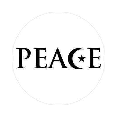 peace muslim crescent symbol sticker islam middle east religion allah peace
