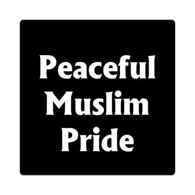 peaceful muslim pride muslim crescent symbol sticker islam middle east religion allah peace