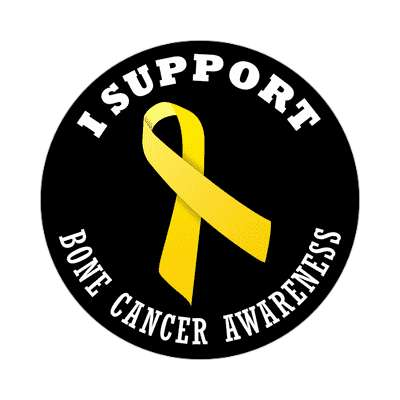 i support bone cancer awareness sticker ribbons cancer disease ribbon