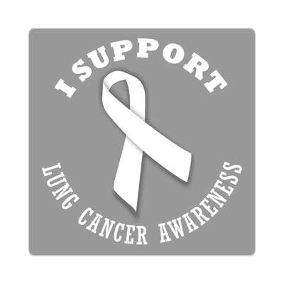 i support lung cancer awareness sticker ribbons cancer disease ribbon
