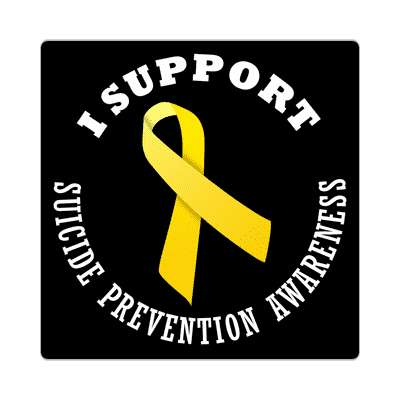 i support suicide prevention awareness sticker ribbons cancer disease ribbon