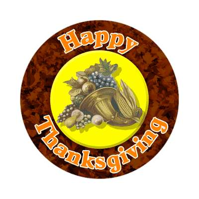 happy thanksgiving sticker holidays turkey gobble fun family food dinner thanks giving