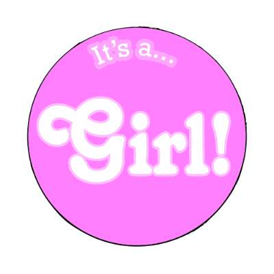 its a girl magnet occasions new baby girl boy child new parent