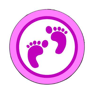 its a girl footprints magnet occasions new baby girl boy child new parent