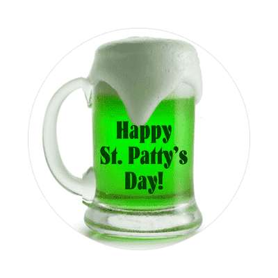 happy st pattys day sticker saint patricks day holidays shamrock green beer leprechauns ireland irish funny sayings blarney