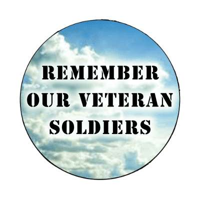 remember our veteran soldiers holiday veterans day magnet united states marine corps marines military army navy airforce veteran vet scout soldier gun war fight battle plane boat ship usa america american pride blue