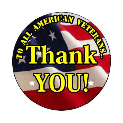 to all american veterans thank you holiday veterans day magnet united states marine corps marines military army navy airforce veteran vet scout soldier gun war fight battle plane boat ship usa america american pride blue