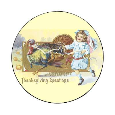 thanksgiving greetings magnet holidays turkey gobble fun family food dinner thanks giving