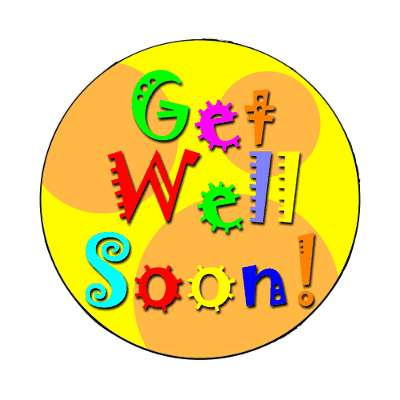 get well soon magnet occasions feel better sickness sick hospital children band aid love family support encouragement