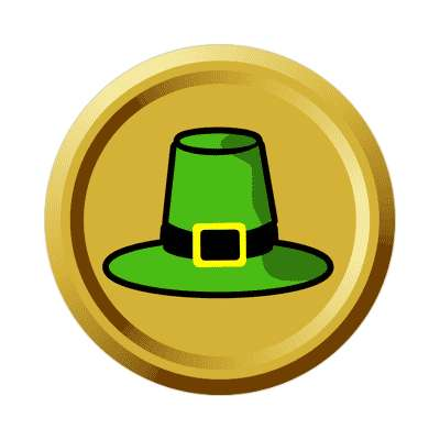 leprechaun hat gold coin sticker saint patricks day holidays shamrock green beer leprechauns ireland irish funny sayings blarney