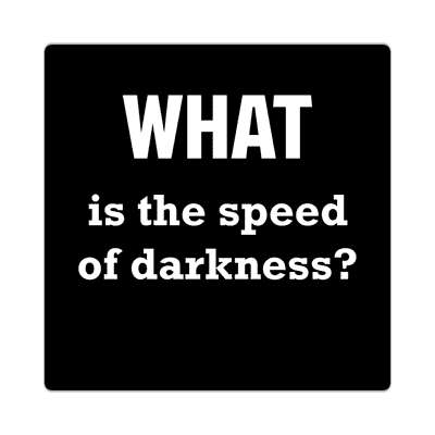 what is the speed of darkness sticker funny philosophical wise sayings intelligent questions random funny sayings joke hilarious silly goofy