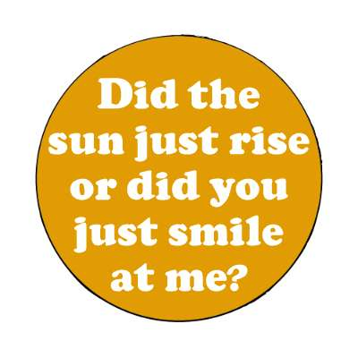 did the sun just rise or did you just smile at me magnet pick up lines funny sayings
