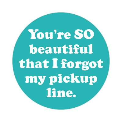 youre so beautiful that i forgot my pickup line sticker pick up lines funny sayings
