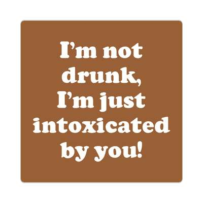 im not drunk im just intoxicated by you sticker pick up lines funny sayings