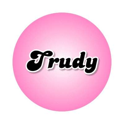 trudy common names female custom name sticker