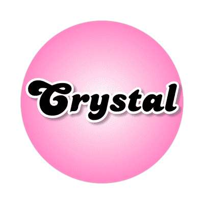 crystal common names female custom name sticker