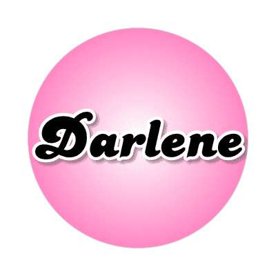 darlene common names female custom name sticker