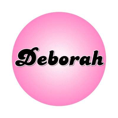deborah common names female custom name sticker