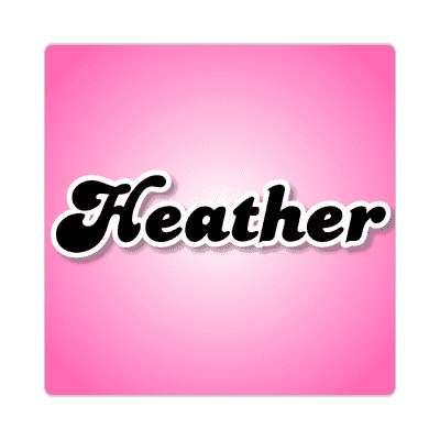 heather common names female custom name sticker