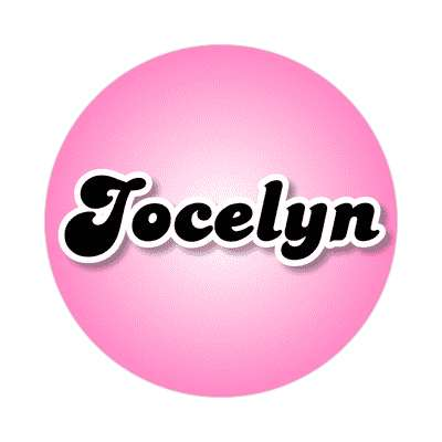 jocelyn common names female custom name sticker