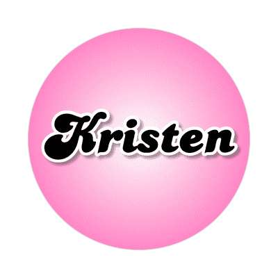 kristen common names female custom name sticker