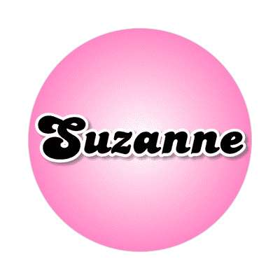 suzanne common names female custom name sticker
