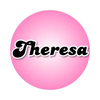 theresa common names female custom name sticker