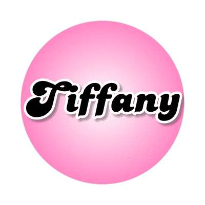 tiffany common names female custom name sticker