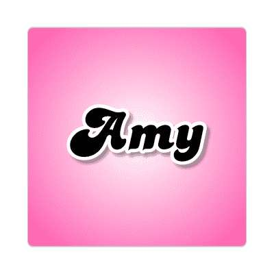 amy common names female custom name sticker