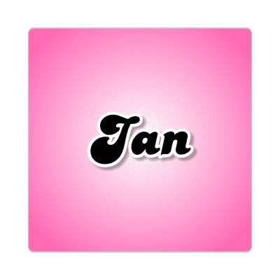 jan common names female custom name sticker