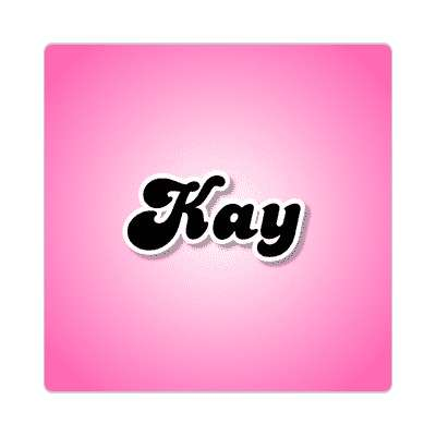kay common names female custom name sticker