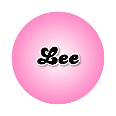 lee common names female custom name sticker