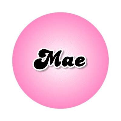mae common names female custom name sticker