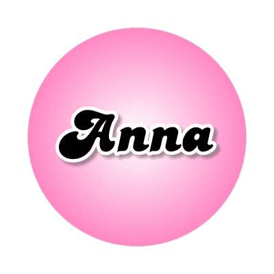 anna common names female custom name sticker
