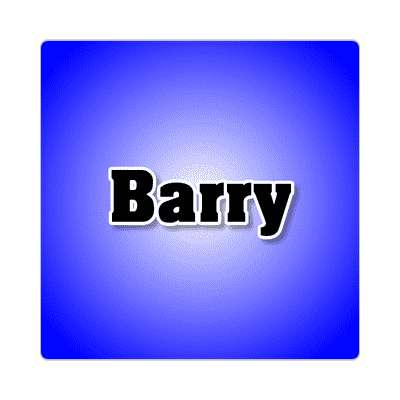 barry common names male custom name sticker